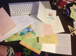Cards from John and Cindy & Gang:)